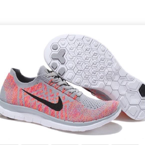premium selection ee649 b96f2 Nike Free 4.0 Flyknit women's sneakers in grey